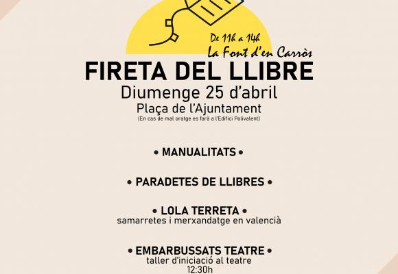 La Font d'En Carròs organitza una Fireta per celebrar el Dia del Llibre
