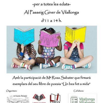 Vilallonga organitza una Fireta del Llibre per a este dissabte