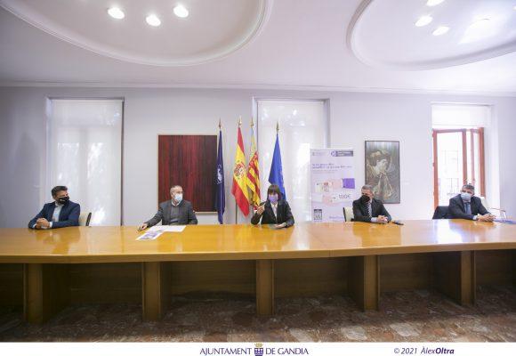 Gandia posa en circulació 1 milió d'euros en «Xecs Consum» per a estimular i dinamitzar el comerç local