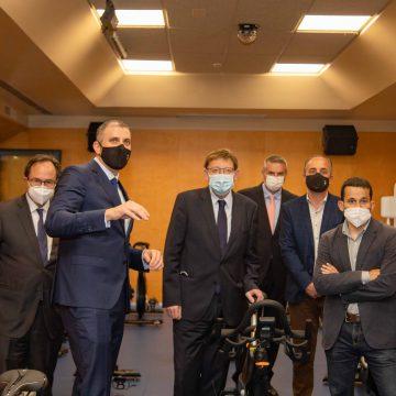 El president de la Generalitat Valenciana visita les obres finalitzades del Centre Municipal d'Esports de Cullera