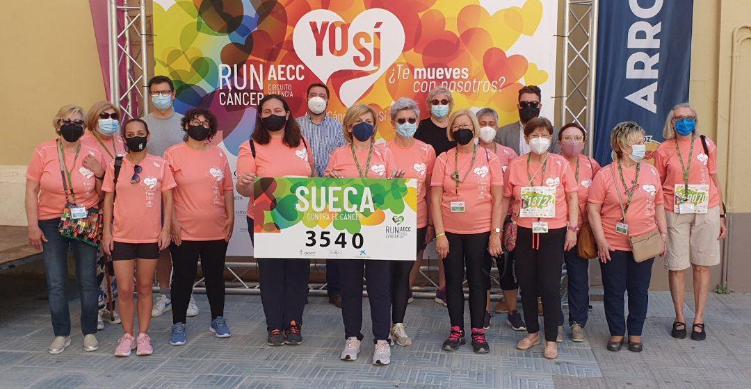 La Run Càncer de Sueca recapta 3.540 euros que es destinaran íntegrament a la investigació contra la malaltia
