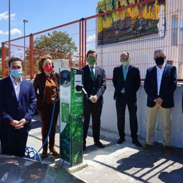 Albaida ja compta amb una estació de recàrrega de vehicles elèctrics d'ús gratuït