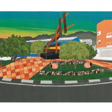 Iván Escrivà guanya el concurs de disseny de la redona d'entrada a Vilallonga