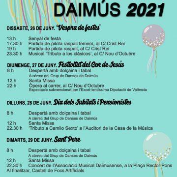 Daimús organitza les festes del 2021 adaptades a les mesures sanitàries