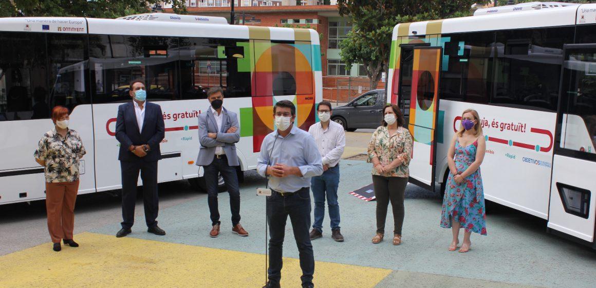 Ontinyent incorpora dos nous microbusos de baixes emissions a la seua aposta per la mobilitat sostenible