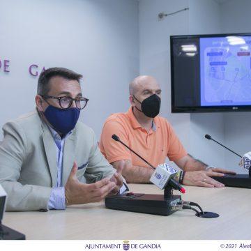 Gandia relaxa temporalment la restricció de circulació de la Morada en el Centre Històric per les obres del Pont d'Alacant