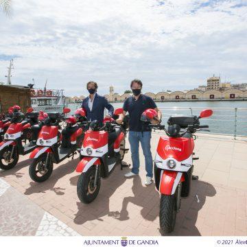 Gandia comptarà per tercer any consecutiu amb un servei de motos elèctriques compartides