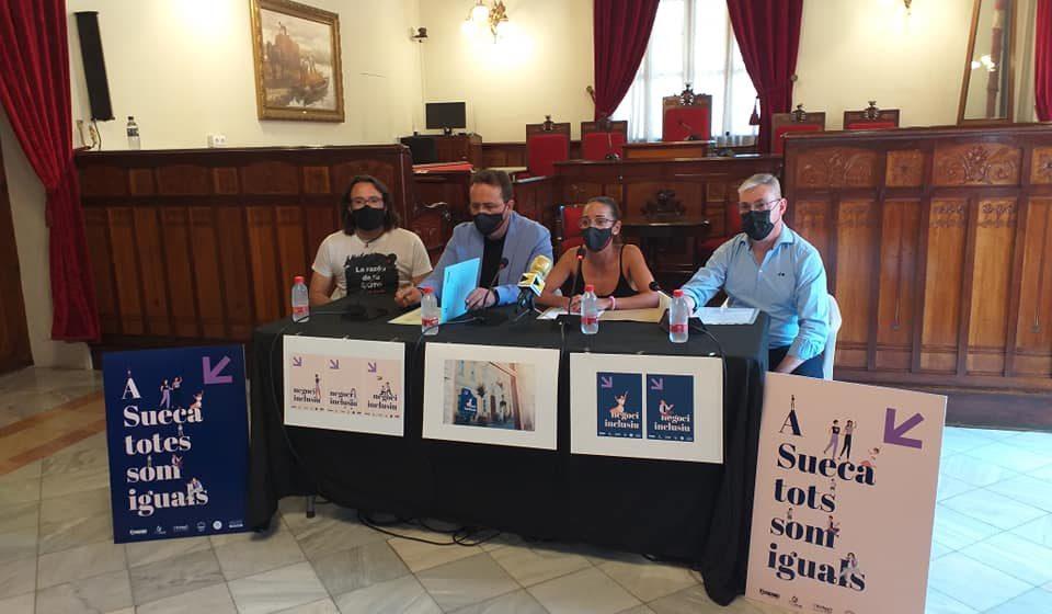 Sueca posa en marxa una campanya de conscienciació sobre igualtat i inclusió real amb la col·laboració del comerç i hostaleria del municipi