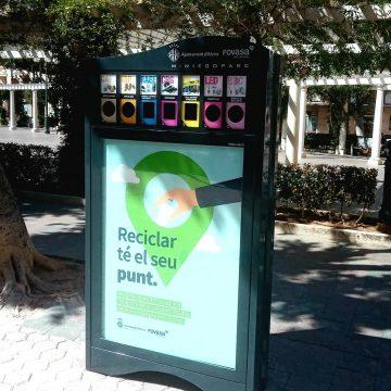 Bona acollida dels minipunts de reciclatge a Alzira