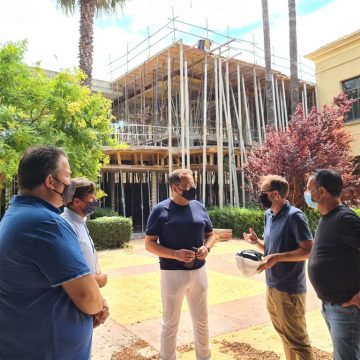 Les obres del nou col·legi Carrasquer de Sueca avancen segons les previsions