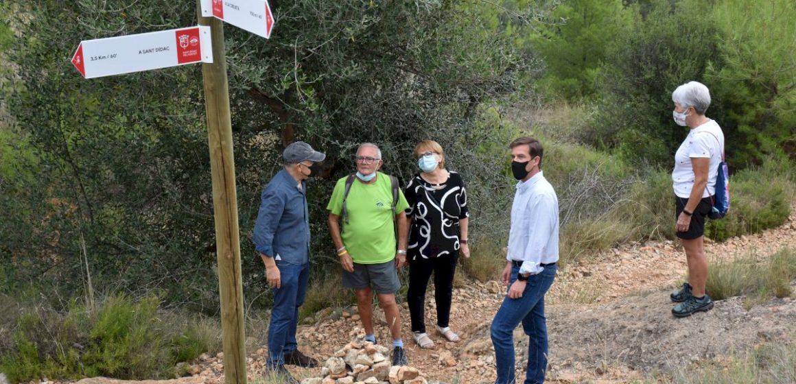 Xàtiva presenta la nova senyalítica dels camins i les rutes senderistes del terme municipal