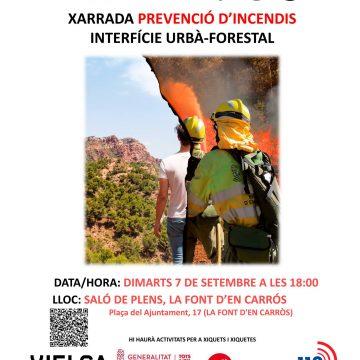 L'Ajuntament de La Font d'En Carròs acull una xarrada sobre prevenció d'incendis forestals