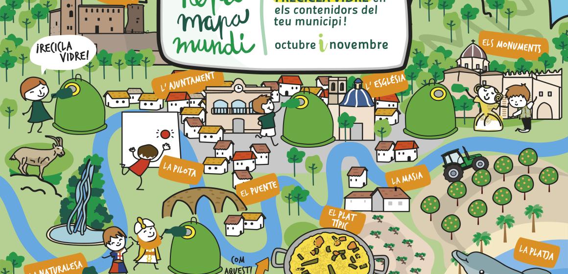 """Xeraco es suma al """"Repte Mapamundi"""" per fomentar el reciclatge de vidre"""