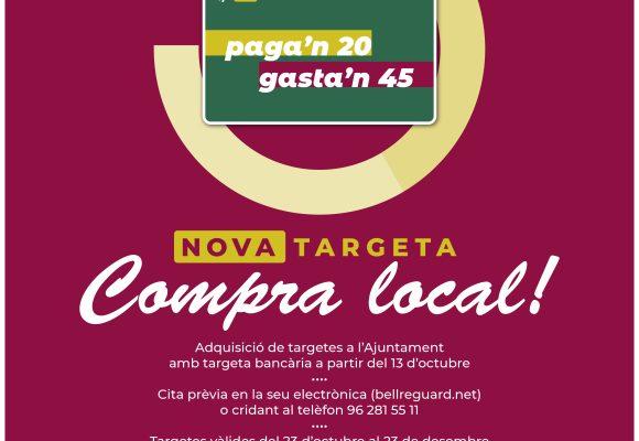Bellreguard lliurarà als veïns targetes de 45 euros per a que compren en el comerç local